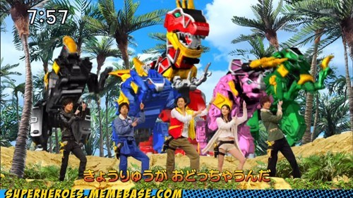Super Sentai song dinosaur