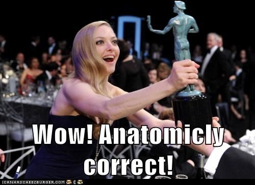 WoW,Amanda Seyfried,anatomically correct,award