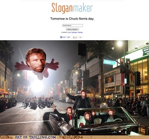 holiday,slogan maker,chuck norris