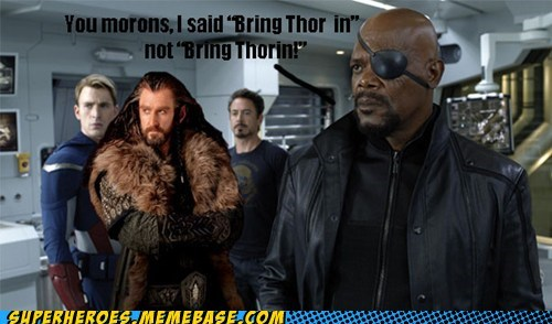 oakenshield Nick Fury thorin avengers - 7072765184