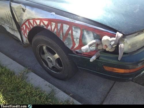 looney tunes autobody bugs bunny shark decal headlight fix - 7072817152