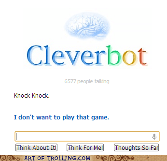 knock knock Cleverbot - 7073106944