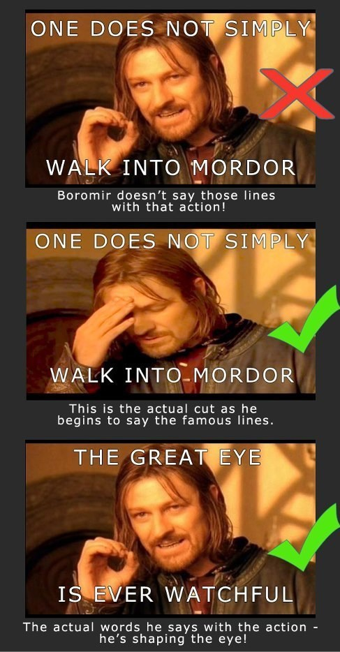quotes Lord of the Rings one does not simply - 7073177088
