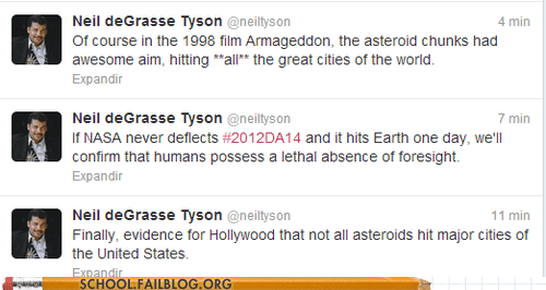 asteroids hollywood Neil deGrasse Tyson