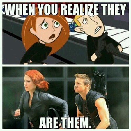 Kim Possible impossible Black Widow hawkeye avengers