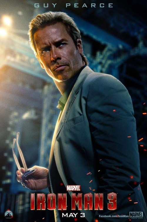 guy pearce poster iron man
