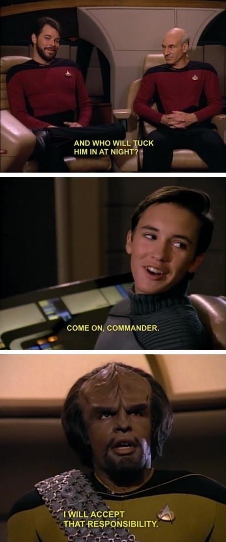 wil wheaton Michael Dorn Jonathan Frakes comic Star Trek patrick stewart - 7074421760