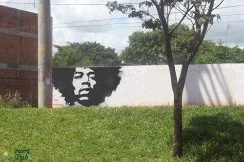 Street Art,jimi hendrix,afros
