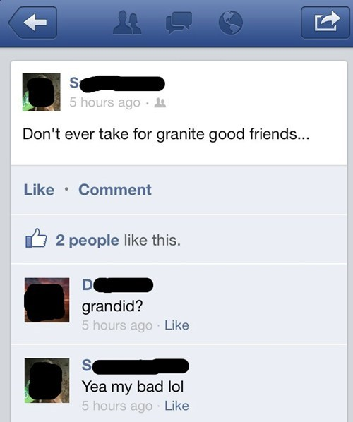 spelling 101,granted,granddad