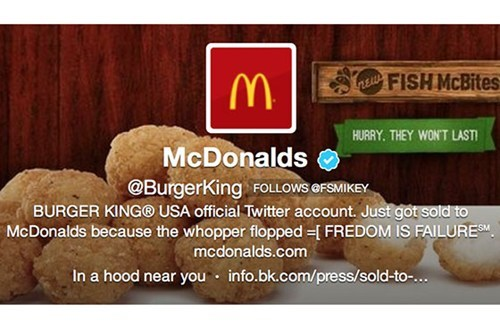 Hack of the Day: Burger King's Twitter Account Hacked on Behalf of McDonalds?