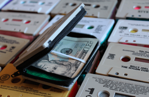 fashion cassette tape design wallet