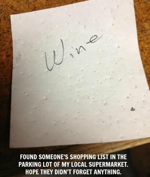 supermarket,grocery list,wine,after 12,g rated