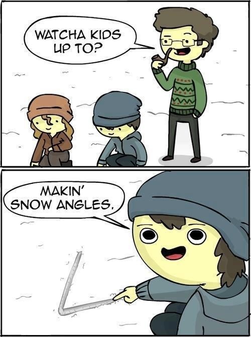 angle snow angel