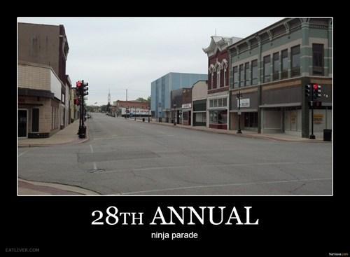 ninja parade empty streets - 7074995200
