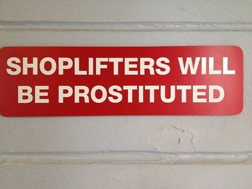 shoplifters sign spelling - 7075026688