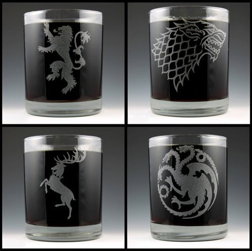 sloshed swag Game of Thrones glasses - 7075077888