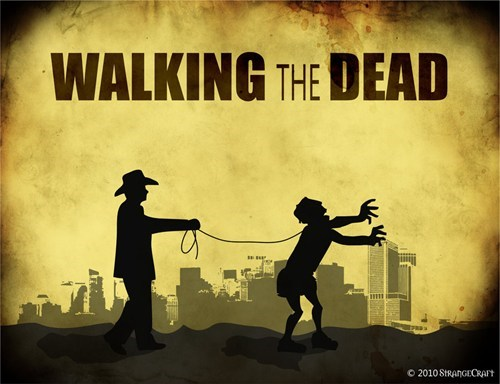 zombie TV The Walking Dead - 7075132928