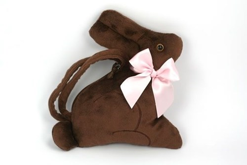 bunnies handbags purses chocolate
