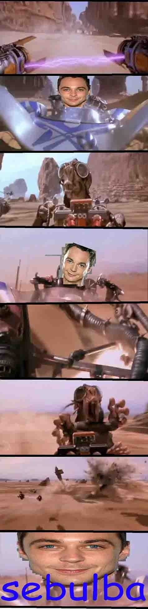 Sheldon Cooper star wars the big bang theory the phantom menace dolan jim parsons - 7075199744