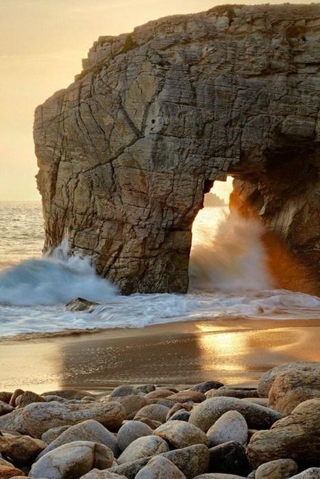 shore waves beach