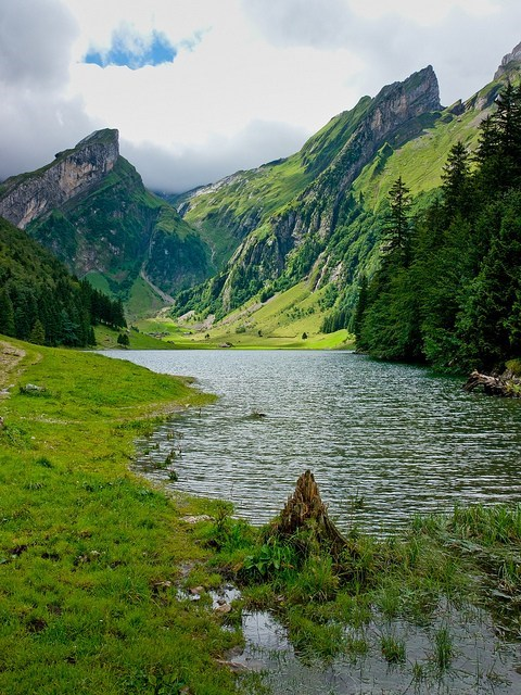 Switzerland landscape mountains lake - 7075350784