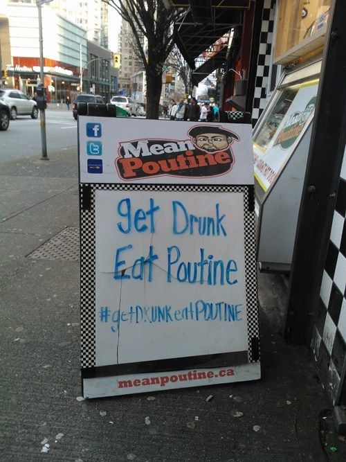 poutine alcohol chalkboards - 7075363328