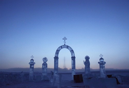 sculpture,ice,north pole,winter