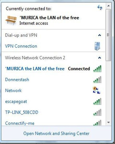network names wifi lan
