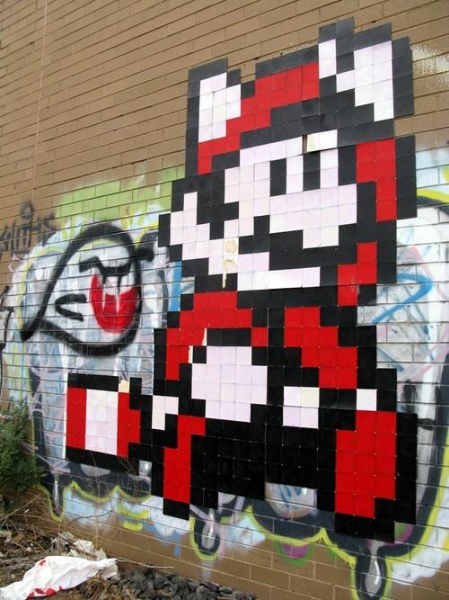 Street Art nerdgasm Super Mario bros g rated win - 7075546112
