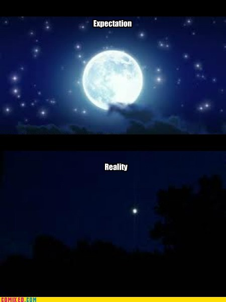 moon picture expectation vs reality