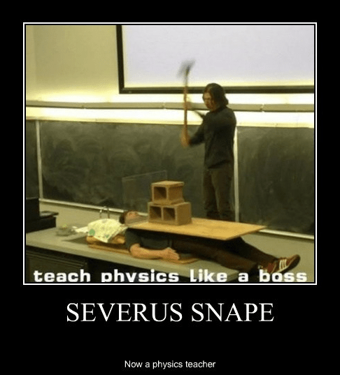 physics Harry Potter snape teacher - 7076188928