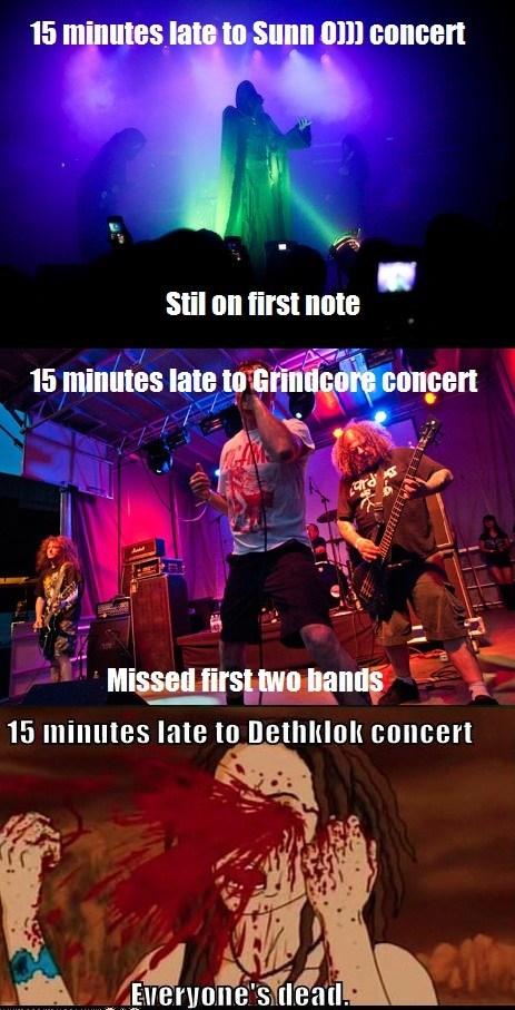 dethklok,concerts,grindcore,Sunn O