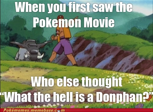 confusion,donphan,anime,Movie,new pokémon