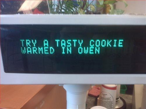 typos,cookies,owen,monday thru friday,g rated