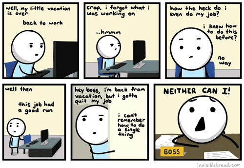 job,comics,invisible bread,vacation