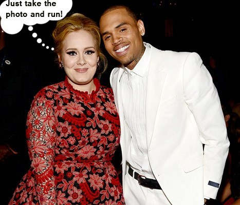 adele,run,scared,chris brown,Photo