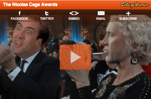 Awards,college humor,nicolas cage