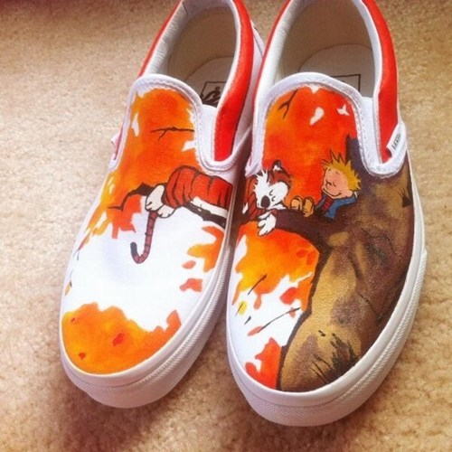 shoes,calvin and hobbes,Fan Art