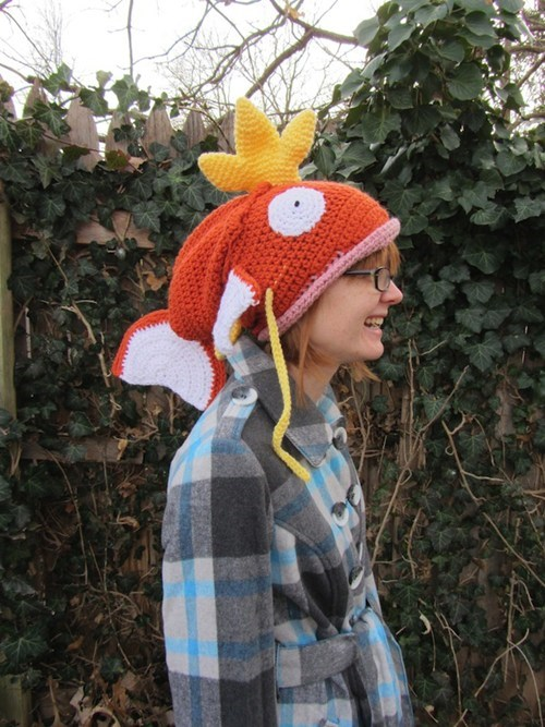 Pokémon magikarp Crocheted hats - 7077603328