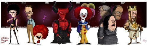 evolution,spamalot,legend,it,characters,The Rocky Horror Picture Show,tim curry