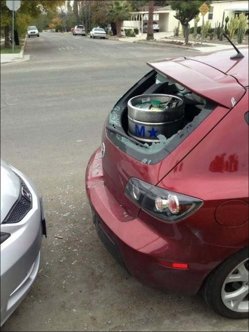 worth it,trunk,broken,keg