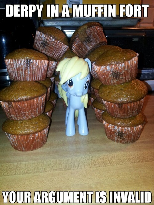 derpy hoovevs your argument is invalid muffin fort muffins - 7077788416