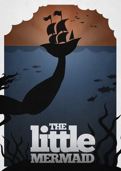 Minimalist Movie Poster: The Little Mermaid