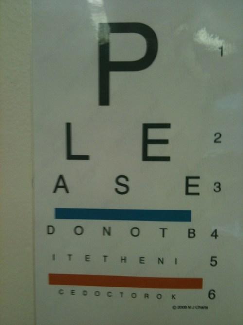 eye chart doctors - 7077899520