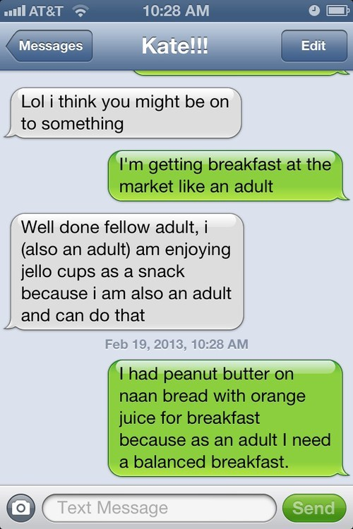 balanced breakfast,iPhones,adulthood