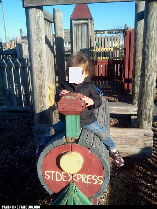 trains,STDs,playgrounds