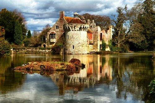 castle,architecture,lake