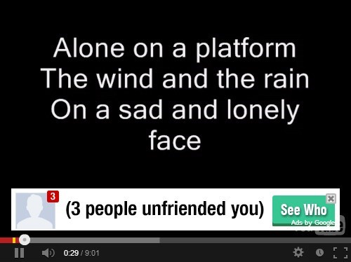 forever alone advertisement youtube juxtaposition
