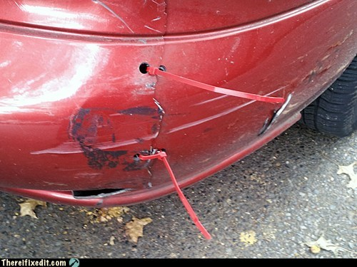 zipties car bumper bumper - 7078366464