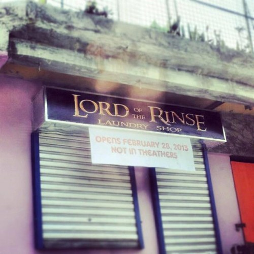 laundry Lord of the Rings laundromat nerdgasm sign - 7078381568